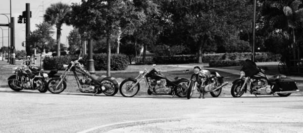 Harley Davidson Black And White Wall Art - Photograph - Steel Horses by Laura Fasulo