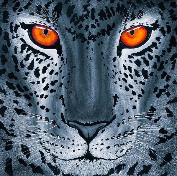 Steel Leopard Art Print
