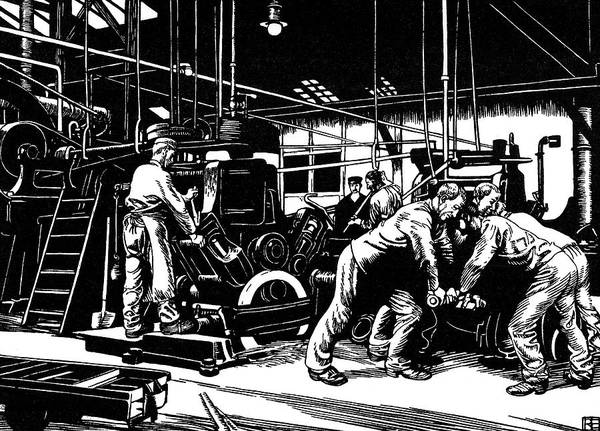 Steel Drawing - Steel Manufacture At Krupp's  Factory by Mary Evans Picture Library