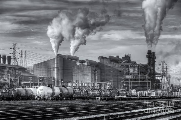 Capitalism Wall Art - Photograph - Steel Mill And Freight Yard II by Clarence Holmes