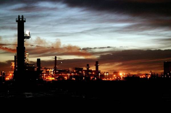 Wall Art - Photograph - Steel Mill At Dusk by Christophe Vander Eecken/reporters/science Photo Library