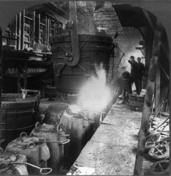Photograph - Steel Mill, C1905 by Granger