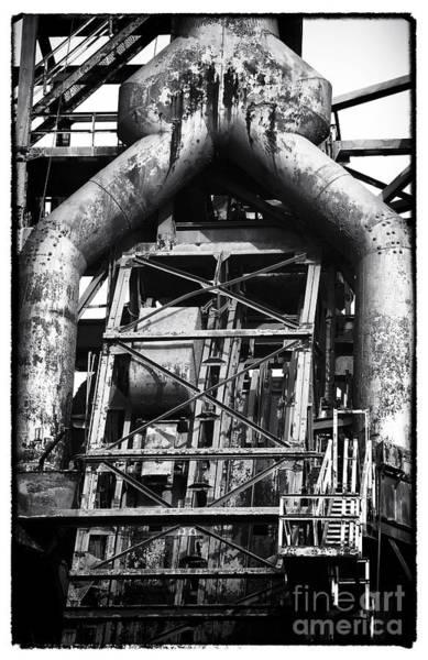 Photograph - Steel Mill Mechanics by John Rizzuto