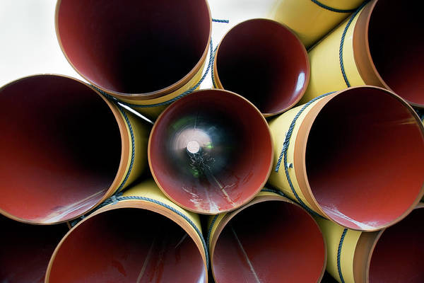 Terminal Photograph - Steel Pipes For Liquefied Natural Gas by Adam Hart-davis/science Photo Library
