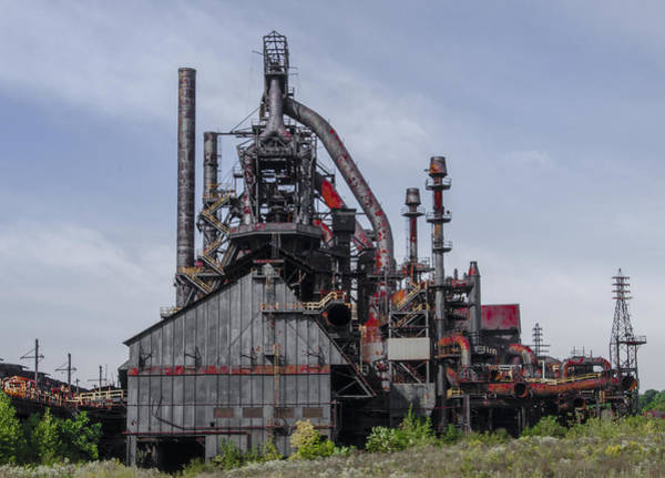 Photograph - Steel Plant - Bethlehem Pa by Bill Cannon