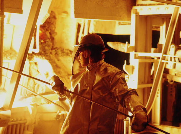 Protective Clothing Photograph - Steel Production by Maximilian Stock Ltd/science Photo Library