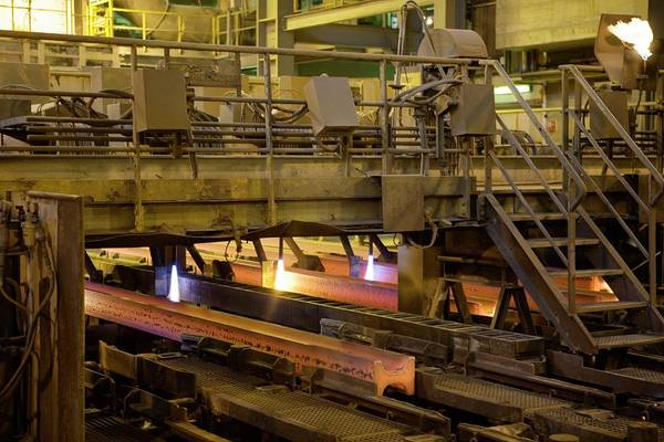 Steel Beams Wall Art - Photograph - Steel Production by Peter Menzel/science Photo Library