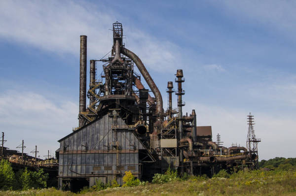 Photograph - Steel Stacks by Bill Cannon