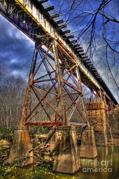 Photograph - Steel Strong Rr Bridge Over The Yellow River by Reid Callaway