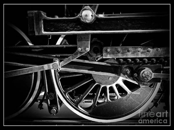 Steam Engine Photograph - Steel Wheels - Steam Train Drivers by Edward Fielding