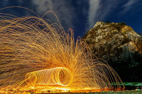 Light Photograph - Steel Wool by Arthit Somsakul