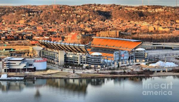 Photograph - Steelers Stadium Reflections by Adam Jewell