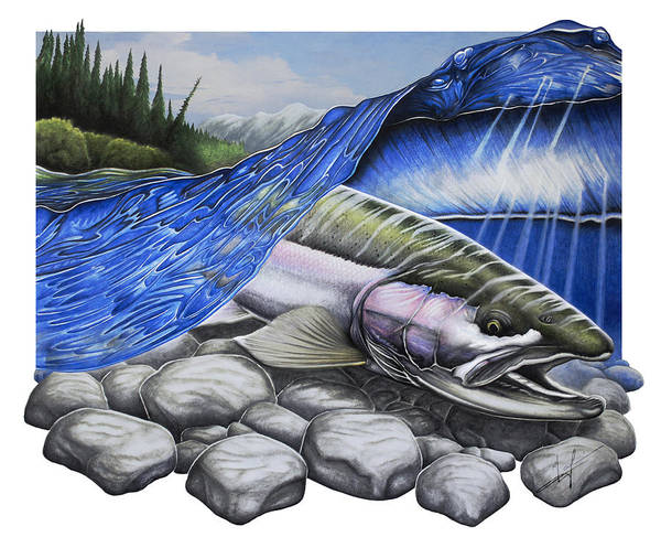 Fly Fishing Painting - Steelhead Dreams by Nick Laferriere