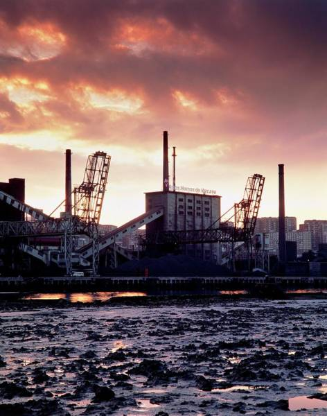 Bilbao Photograph - Steelworks On The Ria De Bilbao by Simon Fraser/science Photo Library