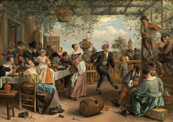 Wall Art - Painting - Steen The Dancing Couple by Granger