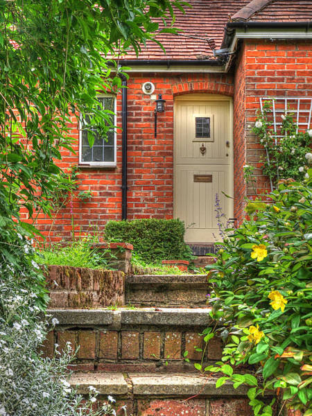 Photograph - Steep Steps - Warm Welcome by Gill Billington