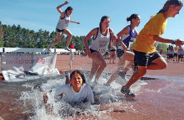 Photograph - Steeplechase Splash by Steve Somerville