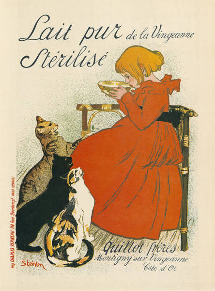 Drawing - Steinlen Milk, C1897 by Granger
