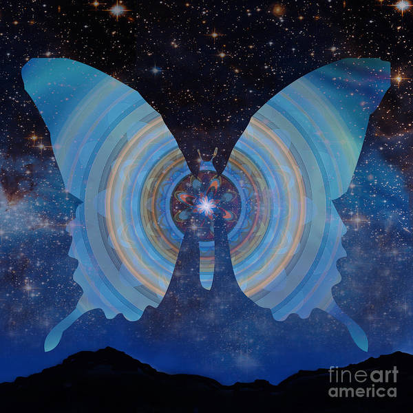 Painting - Stellar Butterfly by Shelley Myers