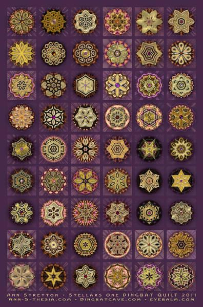 Stellars One Dingbat Quilt Art Print