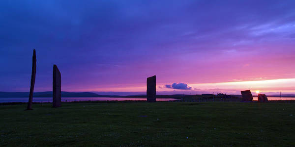 Stenness Sunset 3 Art Print by Steve Watson