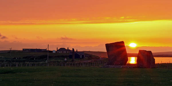 Stenness Sunset 4 Art Print by Steve Watson