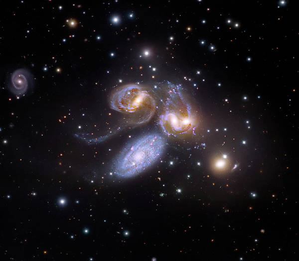 Interacting Galaxies Wall Art - Photograph - Stephan's Quintet by Naoj/hubble Legacy Archive/judy Schmidt/robert Gendler/science Photo Library