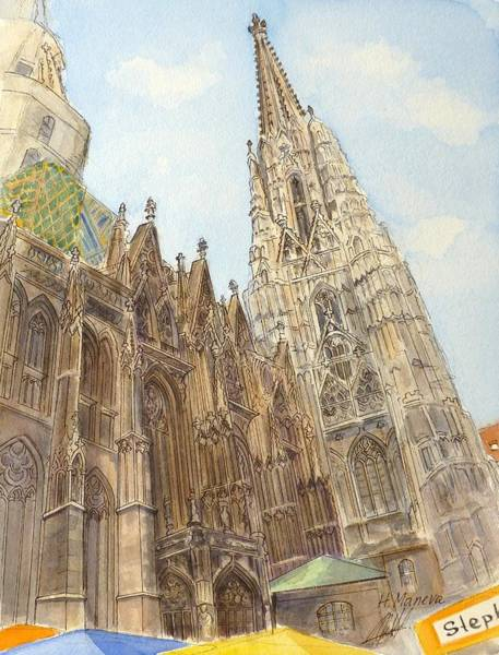 Vienna Painting - Stephansdom Vienna by Henrieta Maneva
