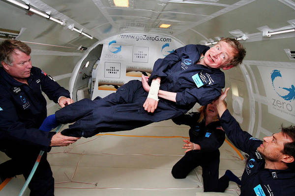 Wall Art - Photograph - Stephen Hawking In Freefall Flight by Nasa/science Photo Library