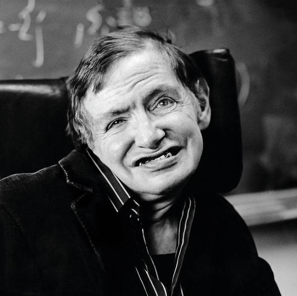 Photograph - Stephen Hawking by Lucinda Douglas-menzies
