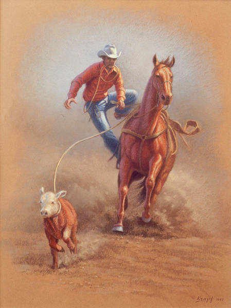 Professional Wall Art - Painting - Steppin' Down At Red Lodge by Paul Krapf