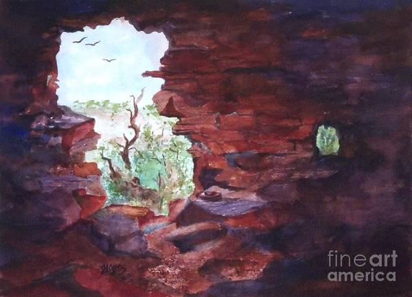 Artifact Painting - Stepping Back In Time And Looking Out by Ellen Levinson