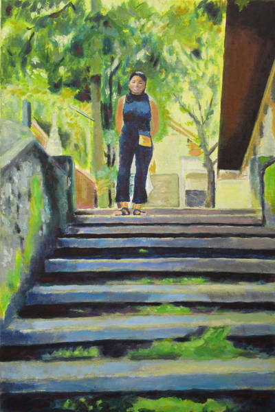 Chang Mai Wall Art - Painting - Steps by Brandt Squires