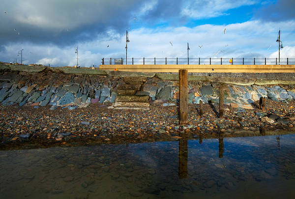 County Waterford Photograph - Steps From The Strand, Tramore, County by Panoramic Images
