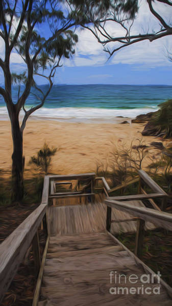 Wall Art - Photograph - Steps Leading To Bendalong Beach by Sheila Smart Fine Art Photography