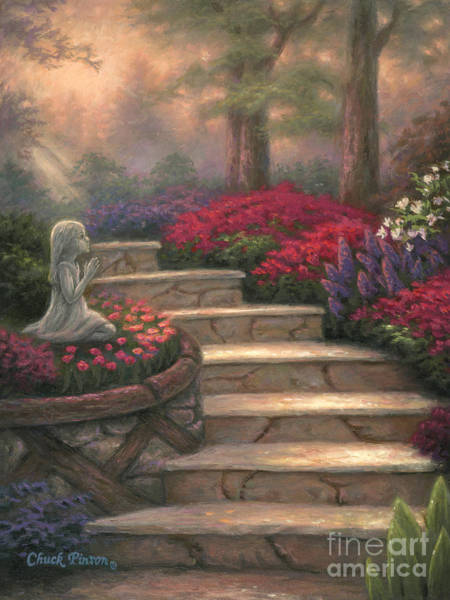 Stairs Painting - Steps Of Providence by Chuck Pinson
