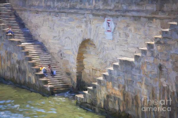 Wall Art - Photograph - Steps On Seine Riverbank by Sheila Smart Fine Art Photography