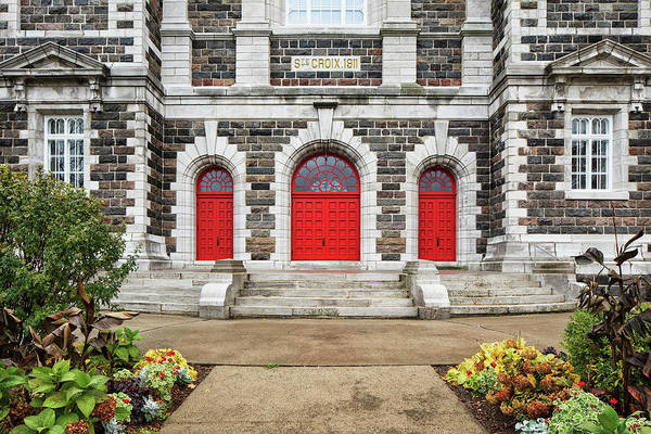 Entrance Photograph - Steps To Entrance Of Old Stone Church by Ken Gillespie / Design Pics