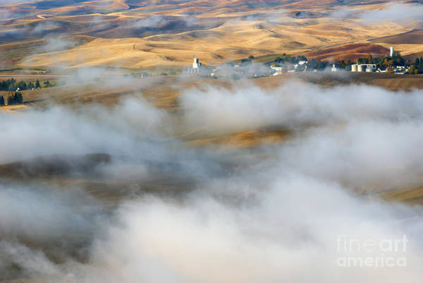 Palouse Photograph - Steptoe Fog Clearing by Mike  Dawson