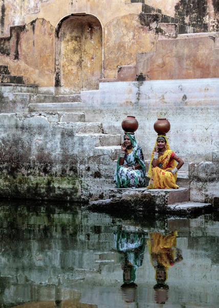 Heavy Photograph - Stepwell Reflections by Susan Moss