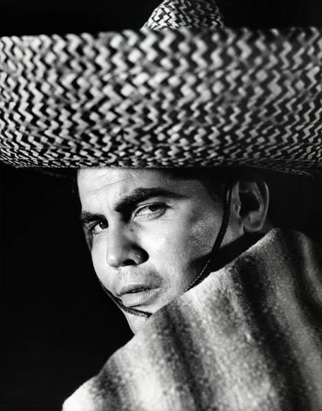 Poncho Wall Art - Photograph - Stereotype Portrait Mexican Man Wearing by Vintage Images