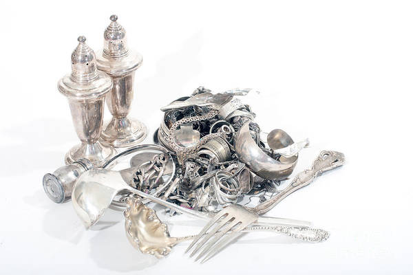 Photograph - Sterling Silver Scrap by Gunter Nezhoda