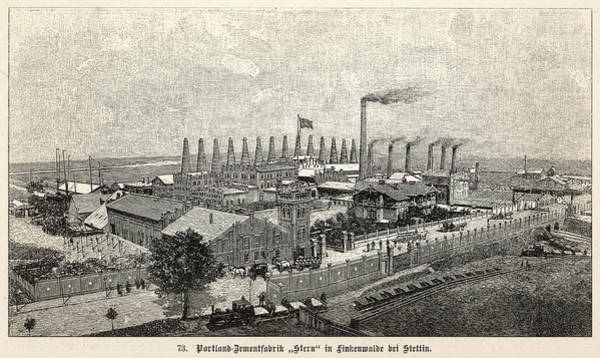 Wall Art - Drawing - Stern's Portland Cement Works by Mary Evans Picture Library