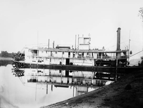 Wall Art - Photograph - Sternwheel Steamboat, 1890 by Granger
