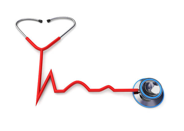 Wall Art - Photograph - Stethoscope Forming A Heartbeat Shape by Fanatic Studio / Science Photo Library