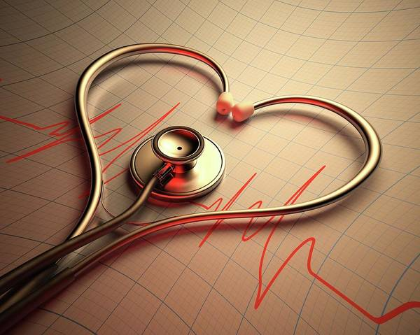 Wall Art - Photograph - Stethoscope In Heart Shape by Ktsdesign