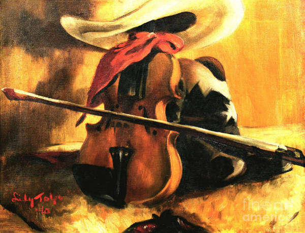 Painting - Stetson - Fiddle - Boots  by Art By Tolpo Collection