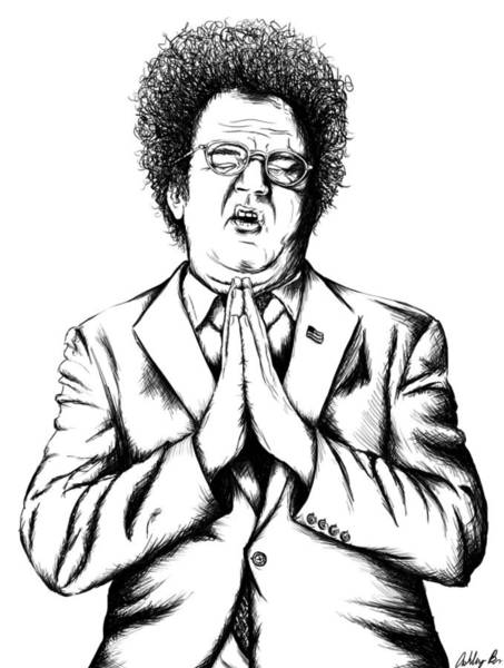 Tim And Eric Digital Art - Steve Brule by Ashley Brown