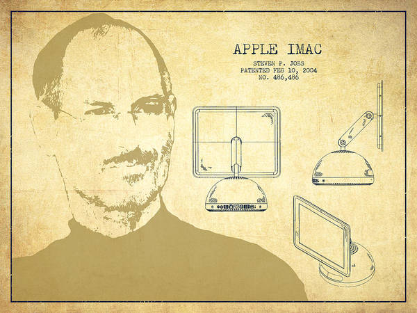 Wall Art - Digital Art - Steve Jobs Imac  Patent - Vintage by Aged Pixel