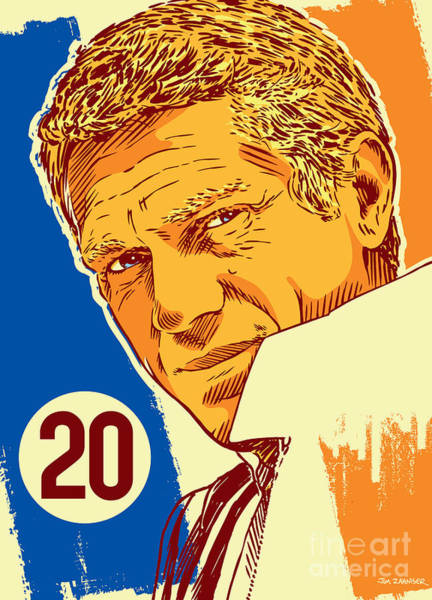 Cool Digital Art - Steve Mcqueen Pop Art - 20 by Jim Zahniser